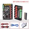 BIGTREETECH GTR V1.0 32 бит Материнская Плата Dual Z с M5 плата расширения Поддержка TMC2209 TMC5160 11 привод двигателя для 3d принтера