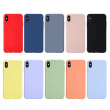 Candy Color Silicone Phone Case for iPhone X XS Max XR Cases For iphone 7 6 6S 8 Plus Solid Soft Couples Back Cover