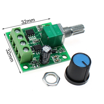 New Miniature PWM speed controller DC1.8-12V DC motor 0~100% adjustable drive module input 2A PWM DC motor speed regulator image