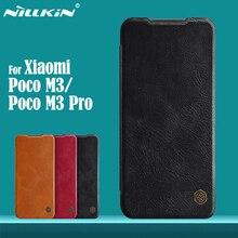 Pour Xiaomi Poco M3 Pro 5G étui à rabat Nillkin Qin en cuir couverture à rabat carte portefeuille étui pour livre pour Xiaomi Poco M3 sacs de téléphone