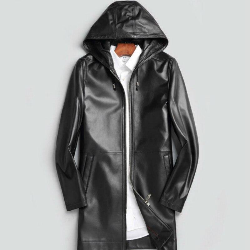 Genuine Leather Jacket Real Sheepskin Leather Jacket Men Spring Autumn Windbreaker Leather Coats Veste Cuir Homme 6173 YY372