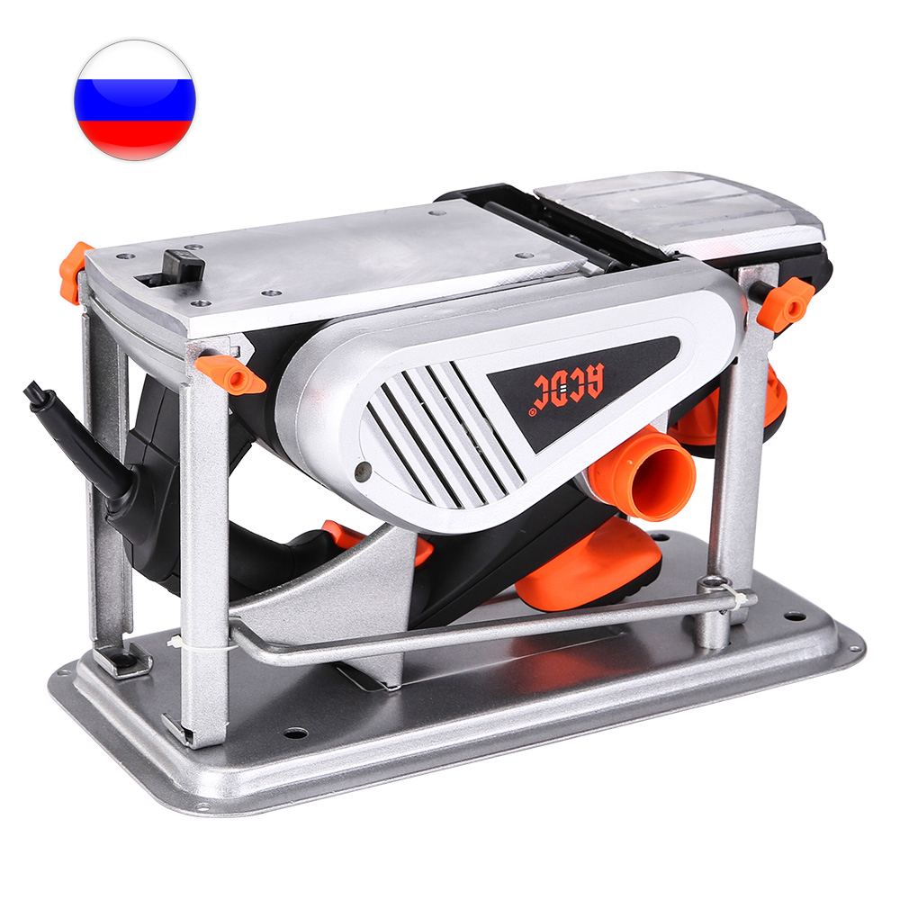 Electric Planer With Stand 1300 W, 220 V Power Tool For Cutting Wood T0018