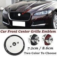 7.2cm/8.6cm estilo do carro chapeamento frente centro grade emblema emblema decalques acessórios para jaguar xf xj xjl auto adesivo decoração