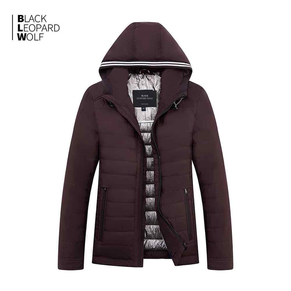 Blackleopardwolf 2019 nova chegada primavera jaqueta de alta qualidade grosso algodão balck cor pato para baixo casaco primavera ZC-C5612