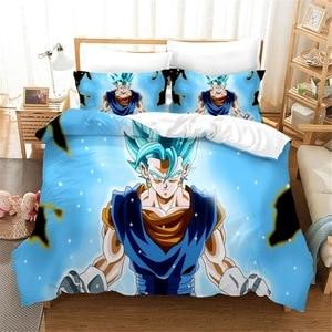 3D Digital Printing Bedding Set Duvet Cover Pillowcase Bedclothes Dropshipping Dragon Ball Z Boy for Gife