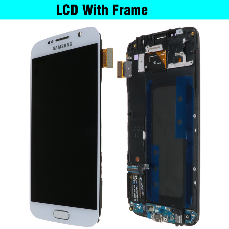 H149c16a4360c43538730bb7ee64abcddU ORIGINAL 5.1'' Super AMOLED Replacement LCD S6 for SAMSUNG GALAXY S6 G920 SM-G920F G920F G920FD Touch Screen Digitizer Assembly