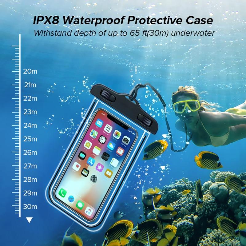 Custodia per cellulare impermeabile universale INIU IP68 custodia impermeabile per iPhone 12 11 Pro Max 8 7 POCO x3 Xiaomi Redmi Samsung 2