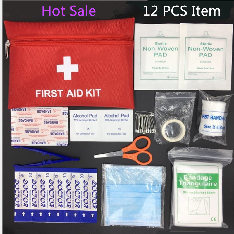 First-Aid-Kit Medical-Bag Emergency-Survival-Kit Outdoor Mini Sport Car Home 12-Types