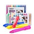 Ручка для рисования тела  6/12/24 цветов  моющийся детский цветной карандаш  безопасный нетоксичный и безвкусовый карандаш для рисования тела  ...