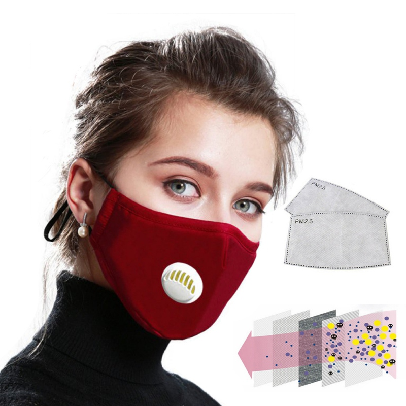 5 Layers Filter Mask For PM2.5 N95 Face Mask Breathable Reusable Activated Carbon Filters Chemical Respirator Painting Spraying