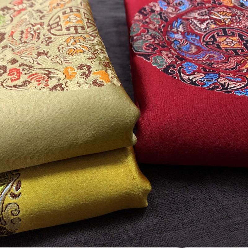 Size100cm*150cm Thick Chinese Damask Costume Dress Robes Qipao Clothes Kimono Satin Plum Jacquard Brocade Fabric