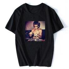 DJ Bruce Lee Vintage Kung Fu China Men T-shirt Harajuku Streetwear Aesthetic Men Soft Hip Hop O-Neck Camisetas Hombre