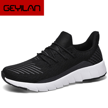 Man Sneakers Flyknit Soft Men Shoes Light Walking Tenis Black Comfortable Male Sports Shoes Adult Shoes Support Wholesale autumn