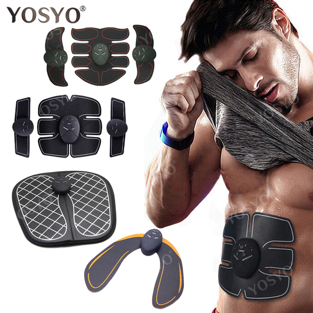 EMS Muscle Stimulator Trainer Electric Wireless Foot Buttocks Hip Abdominal ABS Fitness Slimming Feet Massager Gel Pad