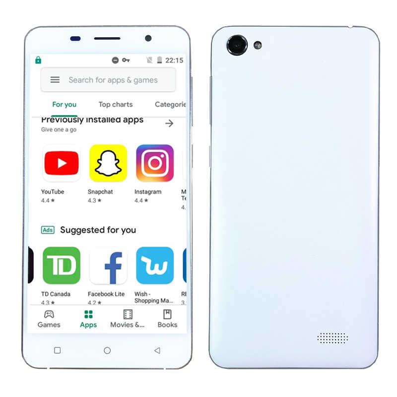 """Étui gratuit pas cher smartphone 5.0 """"écran Android celulaire 3G 4G LTE téléphone portable 2G RAM Google Play GSM Quad Core téléphones portables"""