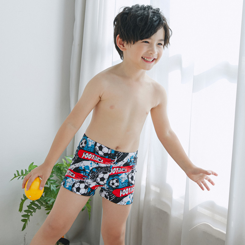 New Style CHILDREN'S Swimming Trunks Cartoon Boxer Medium-small Young Children Students Swimming Trunks Male Baby Preschool Foot