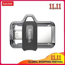 SanDisk – clé USB 128 originale, support à mémoire de 16GB 64GB 32GB 3.0 GB, lecteur Flash double OTG, SDDD3, disque U, pour téléphone ou PC