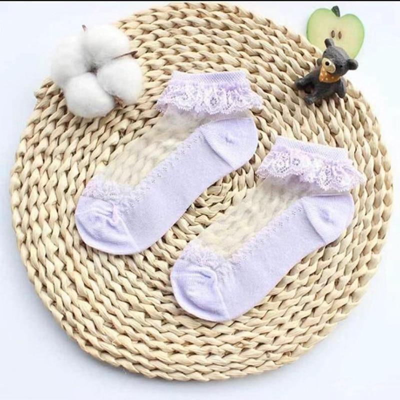 3pairs/Lot Princess Cotton Socks Lace Socks Soft Ruffled Summer Breathable 4