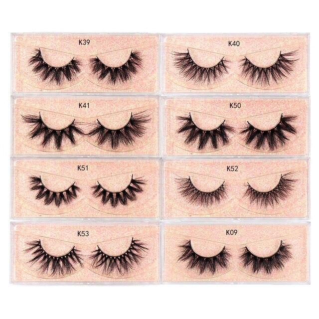 LEHUAMAO Makeup Mink Eyelashes 100% Cruelty free Handmade 3D Mink Lashes Full Strip Lashes Soft False Eyelashes Makeup Lashes 5