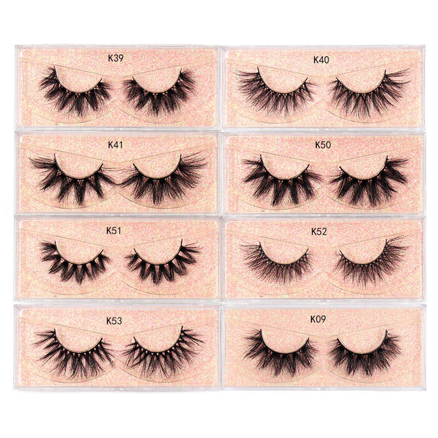 LEHUAMAO Makeup Mink Eyelashes 100% Cruelty free Handmade 3D Mink Lashes Full Strip Lashes Soft False Eyelashes Makeup Lashes 4