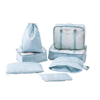 7 PCS/set Travel Accessories Luggage Organizer Waterproof Polyester Fashion Travel Packing Cubes Set