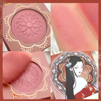 XUAN COLOR Monochromatic Blush Rouge High Gloss Repair Palette Beauty Record Blush Novice Makeup Color Natural Face BlusherTSLM1 1