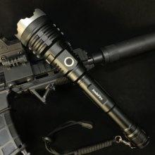 JamieFire – lampe de poche tactique puissante à lumière LED, torche Rechargeable par USB, avec Zoom 21700, pour la chasse