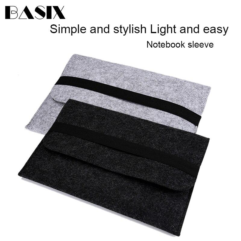 Laptop Bag Soft Wood Felt Sleeve Bag Case For Apple Macbook Air Pro Retina 11 13 15 Laptop For Mac Book 13.3 Inch
