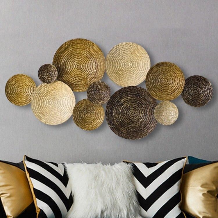 Простые Стильные настенные подвески, креативные Кованые настенные украшения, Трехмерные настенные украшения для гостиной, настенные подве...