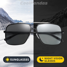 2020 Aluminum Magnesium Square Sunglasses Photochromic Men W