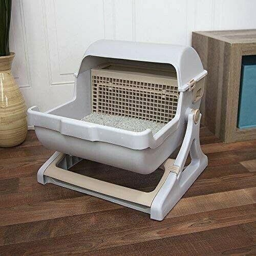 Semi-Automatic Quick Cleaning Cat Litter Box  4