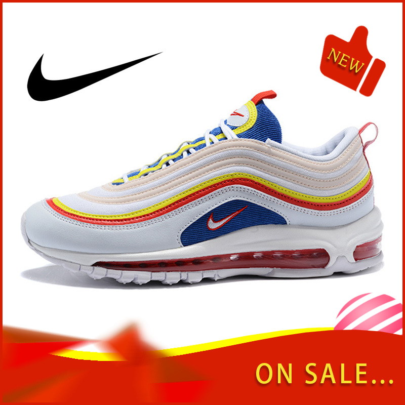 Original Authentic Nike Air Max 97 LX Men's Running Shoes Fashion Outdoor Sports Shoes Breathable Comfort 2019 New AQ4137-101