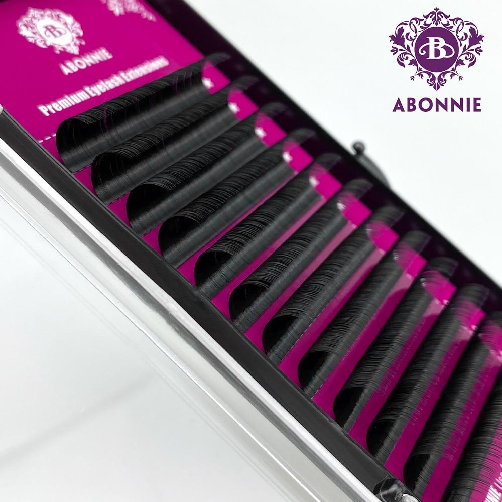 Abonnie  JBCD Curl Individual Lashes Black Mink  False Eyelashes  Premium Volume Lashes Fake Cilios 12rows All Size 8-17mm