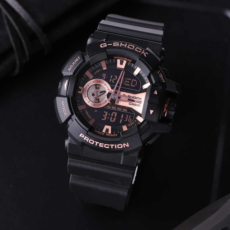 ساعة كاسيو متعددة الوظائف رياضية خارجية ساعة رجالي مضادة للماء GA-400GB-1A4