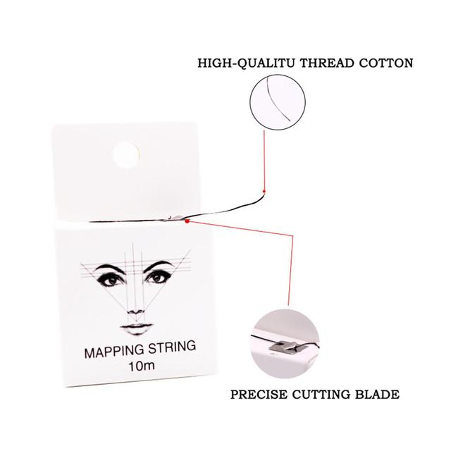 Mapping 10m Pre-ink String For Microblading Eyebow Makeup Dyeing Liners Thread Semi Permanent Positioning Eyebrow Measuring Tool 1