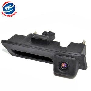Image 1 - CCD Wasserdichte Auto Runk Griff Parkplatz Rearview Backup kamera Fall Für Audi/VW/Passat/Tiguan/Golf/Touran/Jetta/Sharan/Touareg