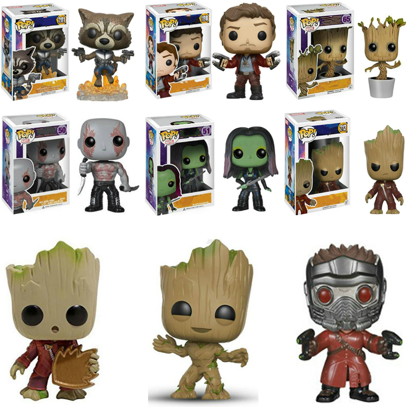Funko POP Marvel's Star-Lord Untitled Avengers Film Gamora Rockets Grooted Toys For Kids Birthday Christmas Gift
