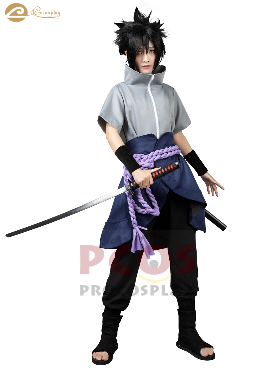 NARUTO Uchiha Sasuke N I N - J A The 6th Generation Cosplay Shinobi Costume Mp003607