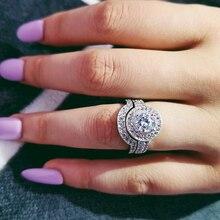 Дизайн, Moonso, 925 пробы, серебряные свадебные кольца, набор, классические обручальные кольца для женщин, роскошные ювелирные изделия r4426