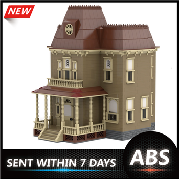 Horror Orphanage Halloween Creator Architecture Psycho House Building Blocks Bricks City Street View Toy Child Christmas image