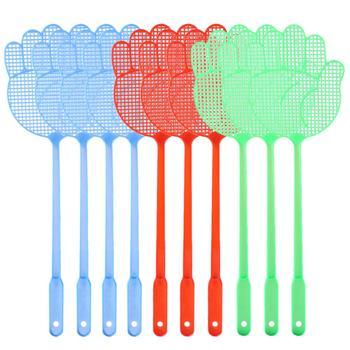 Hot 20 sztuk śliczny wzór dłoni plastikowe Fly Swatter lekki gospodarstwa domowego klapy komara łapka na owady zwalczania szkodników kolor losowo tanie i dobre opinie ROUND 2305204 Mosquito Bug Zapper Hand Operational Color Random
