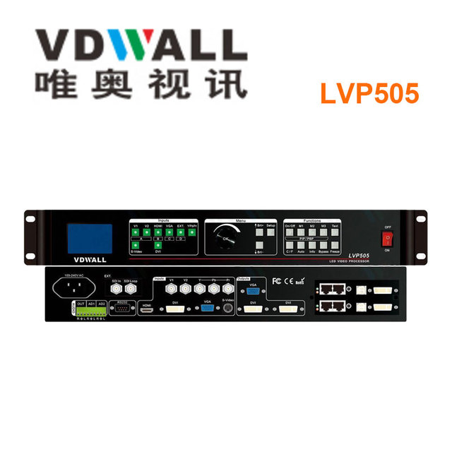 VDWALL LVP505 video processor for full color led screen p3.91 indoor stage rental led wall