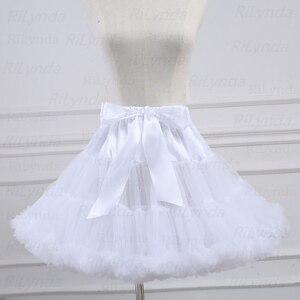 Белая короткая женская Тюлевая подъюбник на Хэллоуин, винтажный Свадебный подъюбник в стиле кринолина, Нижняя юбка для невесты, юбка пачка в стиле рокабилли Нижние юбки      АлиЭкспресс