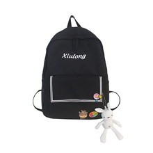 Cartoon Embroidery Women Backpacks Preppy Fresh School Bag for Teenager Girl Korean Style Travel Daily Backpack Bags mochila