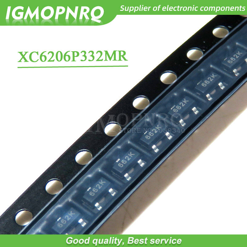 100pcs XC6206P332MR <font><b>662K</b></font> XC6206 3.3V/0.5A Positive Fixed LDO <font><b>Voltage</b></font> <font><b>Regulator</b></font> SOT-23 new original image