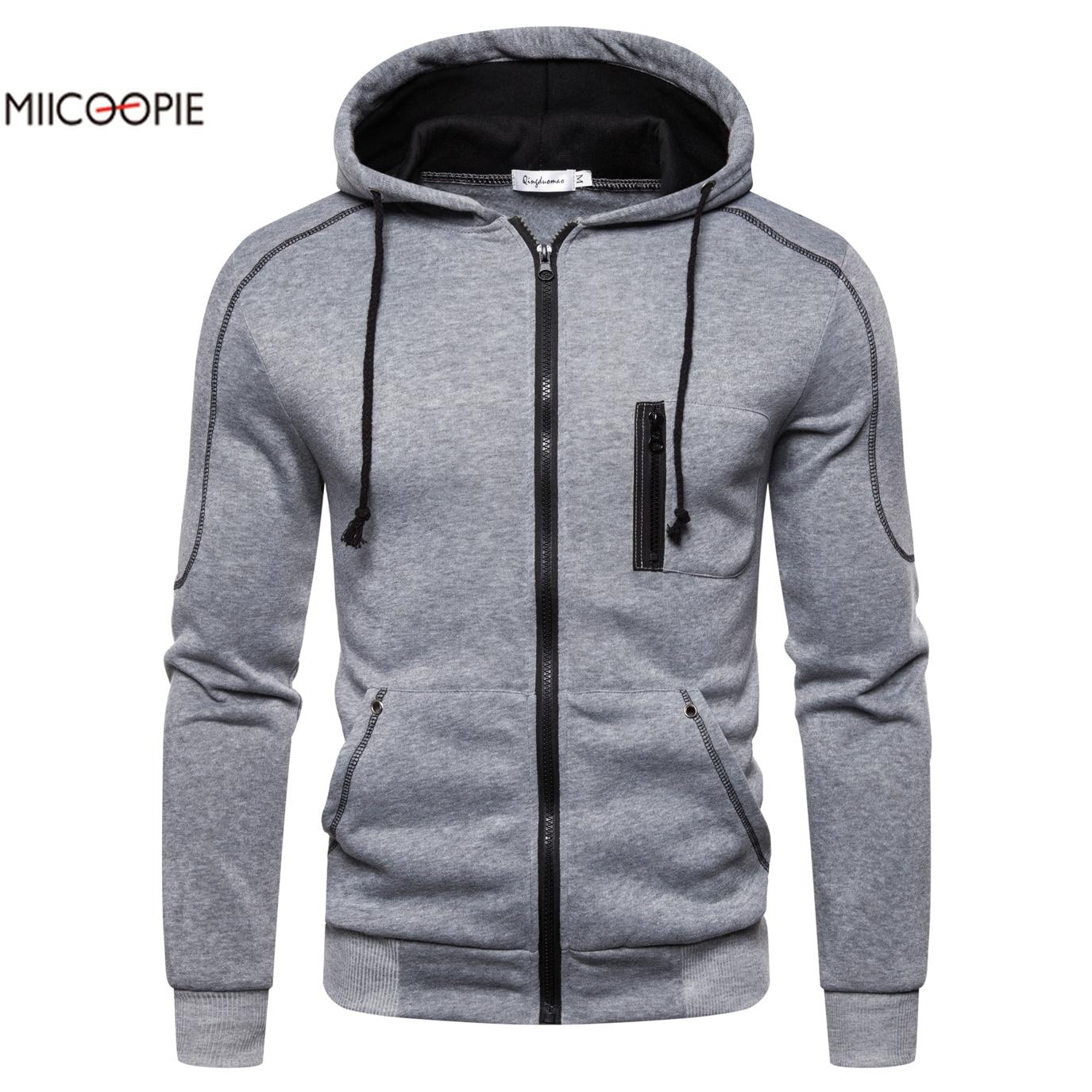Miicoopie 2019 Mens Hoodie Solid Pullover Fashion Mens Outdoor Street Wear Autumn Mens Sweatshirt Long Sleeve