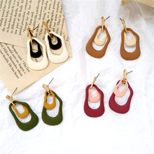 Unique irregular geometrical earrings tide restoring ancient ways female contracted personality pretty girl