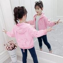 2019 Spring Autumn Sweatshirt Kid Clothes Cotton Long Sleeve Slim Fit Girls Jacket Hooded Coat Girls Clothes Children Clothing все цены