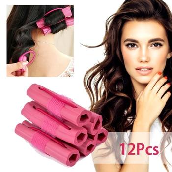 12PC Magic Sponge Pillow Soft Hair Roller Flexible Foam&Sponge Hair Curlers Rollers DIY Salon Hair Care Styling Tools 1