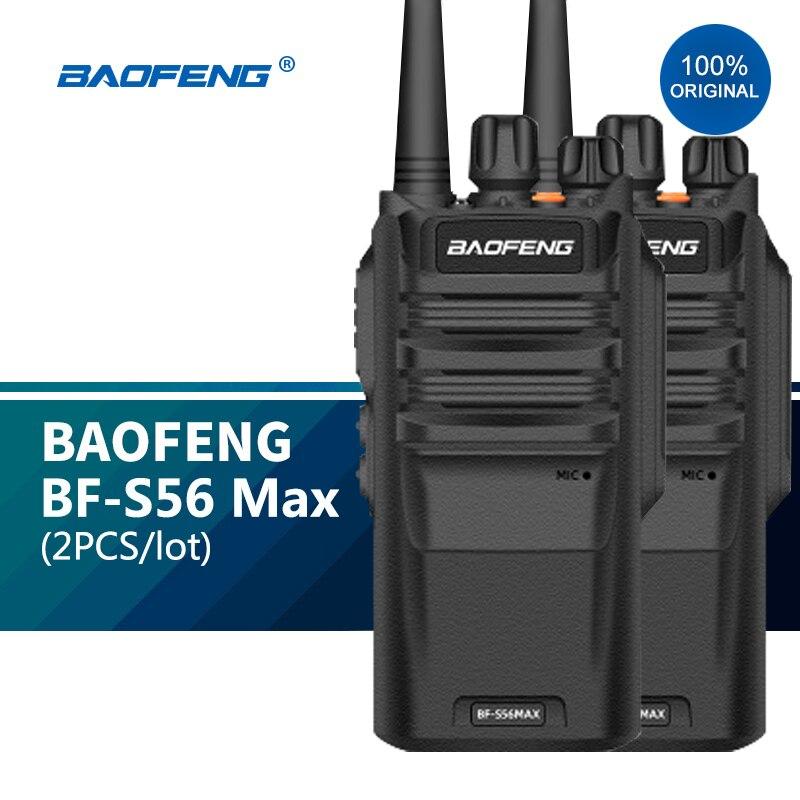 2pc Walkie Talkie Long Range 10KM BF S56 Max IP67 Waterproof High Power 10W рация Transceiver Portable Baofeng Ham Radio New